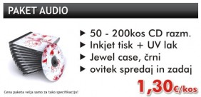 Paket audio CD tisk in CD razmnoževanje