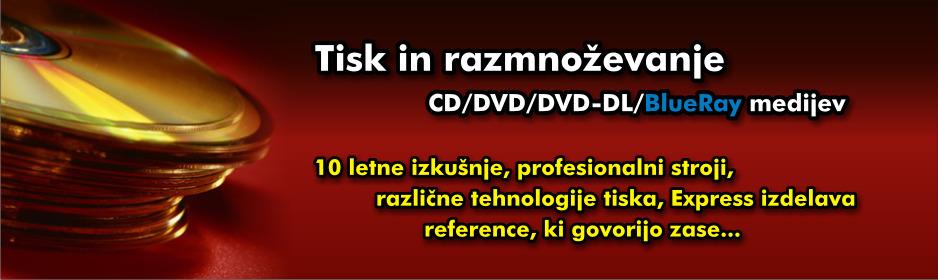 CD DVD tisk in razmnoževanje
